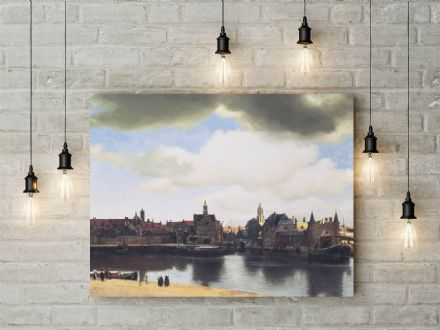 Vermeer: View of Delft. Fine Art Canvas.